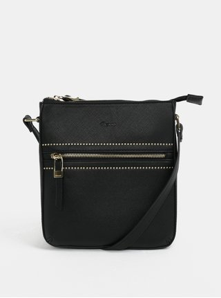 Černá crossbody kabelka s detaily ve zlaté barvě Gionni Tessa