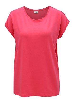 Tmavě růžové volné basic tričko VERO MODA Ava