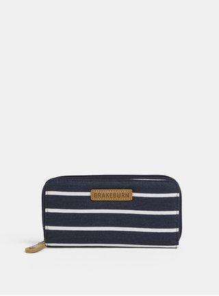 Tmavomodrá pruhovaná peňaženka Brakeburn