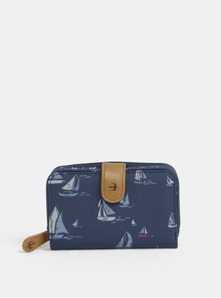 Tmavomodrá peňaženka s motívom plachetníc Brakeburn