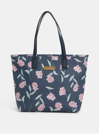 Tmavomodrý kvetovaný shopper Brakeburn