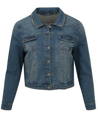 Jacheta scurta albastru deschis din denim simply be.