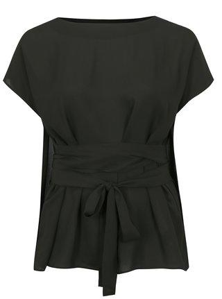 Bluza neagra cu snur in talie simply be.