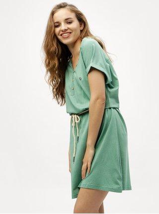 Zelené bodkované šaty Ragwear Britta