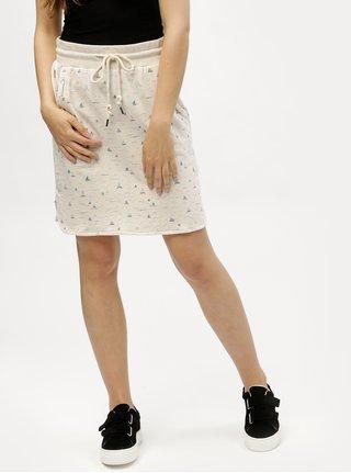 Béžová vzorovaná sukně Ragwear Patty