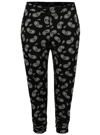 Černé vzorované kalhoty simply be.