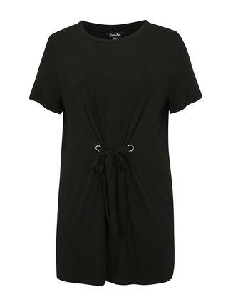 Čierne šaty so zaväzovaním v páse simply be.