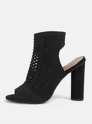 Sandale negri cu toc stabil MISSGUIDED