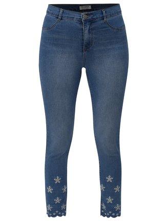 e48c1cfdbcb Modré zkrácené skinny džíny s průstřihy na nohavicích Dorothy Perkins  Frankie