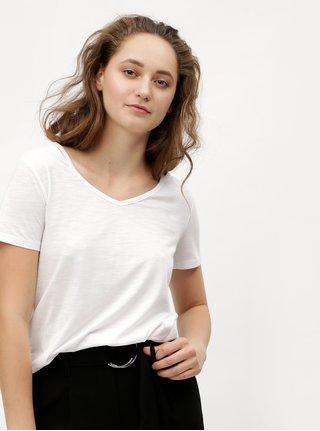 Bílé dámské basic tričko s véčkovým výstřihem s.Oliver