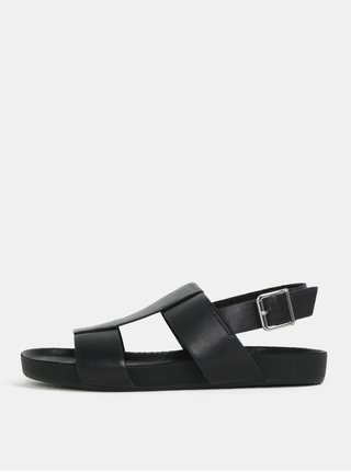 Sandale negri din piele naturala pentru barbati Vagabond Funk