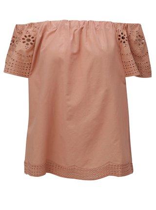 Bluza roz prafuit cu decolteu pe umeri Dorothy Perkins