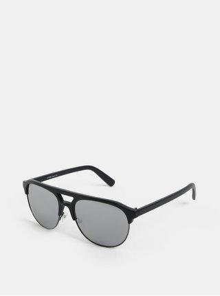 Ochelari de soare negri cu lentile oglinda ONLY & SONS Display
