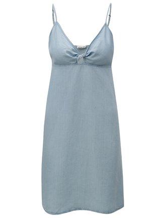 Svetlomodré rifľové šaty s prestrihom v dekolte Noisy May Leah 43b6f220d18