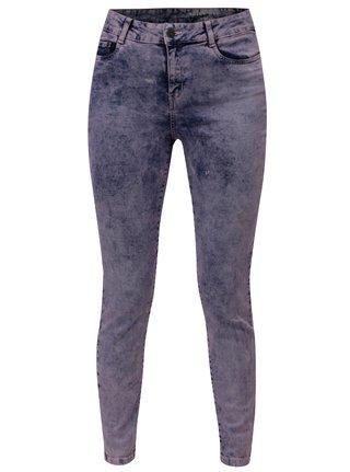 Modro-fialové žíhané slim fit džíny Noisy May Lucy