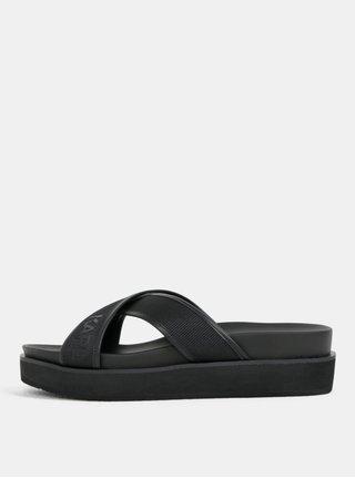 Černé dámské pantofle na platformě KARL LAGERFELD Mikado