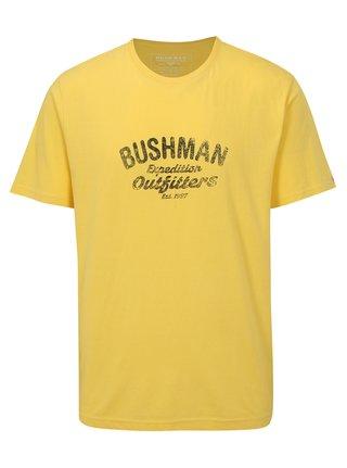 Tricou barbatesc galben cu print BUSHMAN Cornhill
