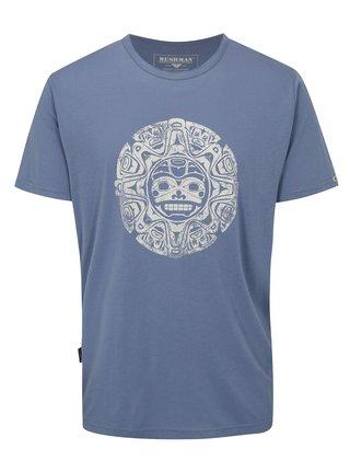Tricou barbatesc albastru cu print BUSHMAN Function