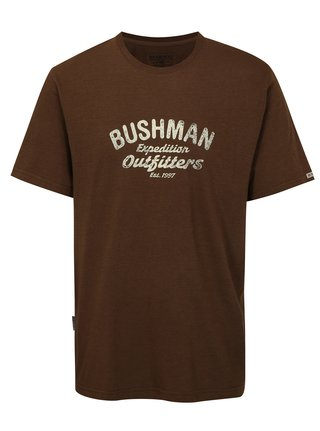 Tricou barbatesc maro inchis cu print BUSHMAN Cornhill