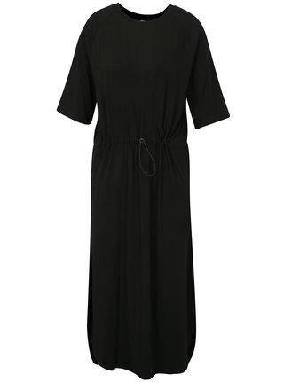 Černé volné midi šaty Moss Copenhagen Brooke