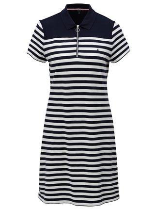 Bílo-modré pruhované šaty Nautica Above