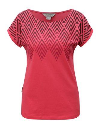 Tricou de dama roz cu print BUSHMAN Cala