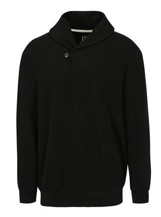Čierny pánsky sveter s golierom JP 1880