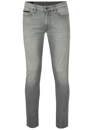 Světle šedé pánské skinny džíny Calvin Klein Jeans 6332ad0994