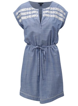 Modré šaty s páskem Nautica Chambray