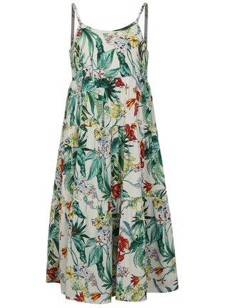 Zeleno-biele dievčenské kvetované šaty name it Jessie