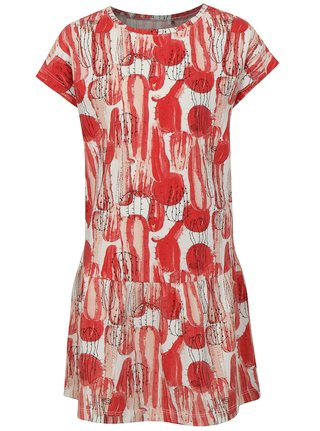 Bielo-červené šaty s gumou v páse name it Julie