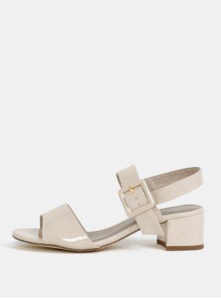 Krémové sandálky na podpatku Tamaris