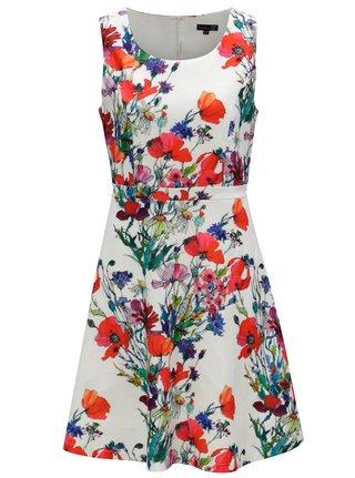 Červeno-biele kvetované šaty Smashed Lemon