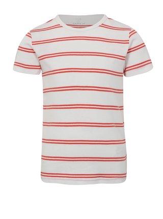 Červeno-biele chlapčenské pruhované tričko name it Villy