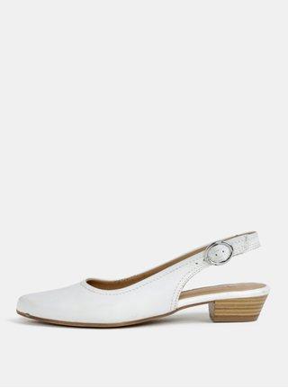 Bílé kožené sandálky s otevřenou patou Tamaris 084f49253e