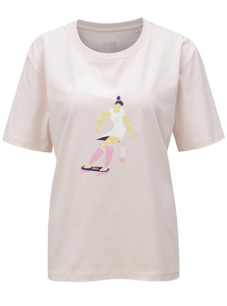 Světle růžové dámské tričko s potiskem ZOOT Stay wild 02d20bc657