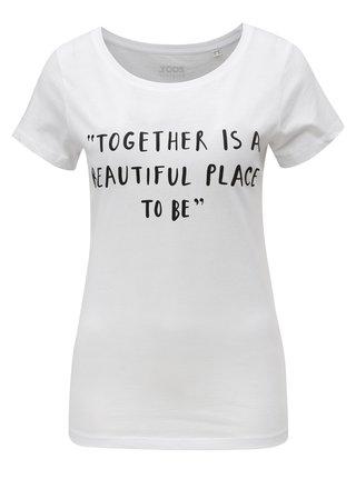 Tricou de dama alb cu print ZOOT Together