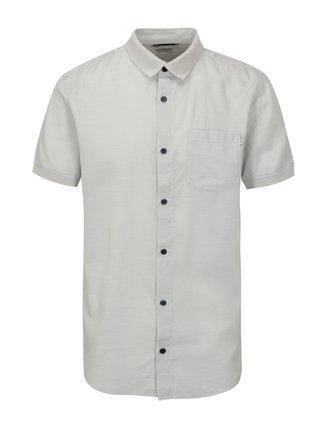 Světle šedá slim fit košile s náprsní kapsou Jack & Jones Glendale