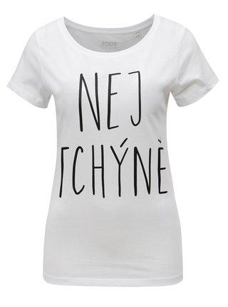 e7354b1445f Bílé dámské tričko s potiskem ZOOT Tchýně