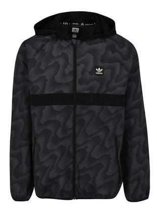 Černá pánská vzorovaná šusťáková bunda adidas Originals
