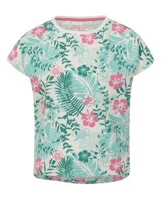 Bielo–zelené dievčenské vzorované tričko name it Vigga