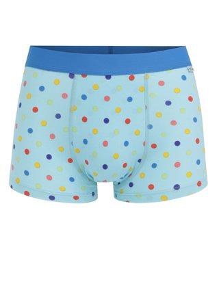 Modré bodkované boxerky Happy Socks Dot