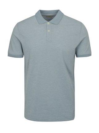Světle modré polo tričko Selected Homme Slub