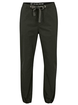 Pantaloni negri cu banda elastica pe glezna JP 1880