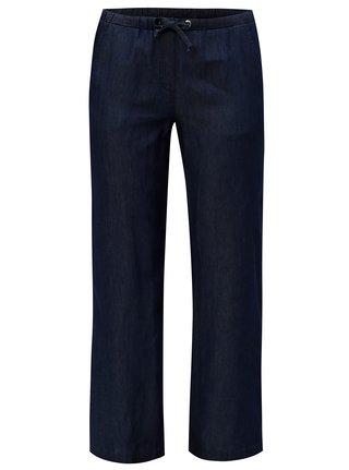 Pantaloni albastru inchis cu croi straight Ulla Popken