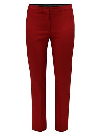 Pantaloni rosii cu croi slim si banda elastica in talie Ulla Popken