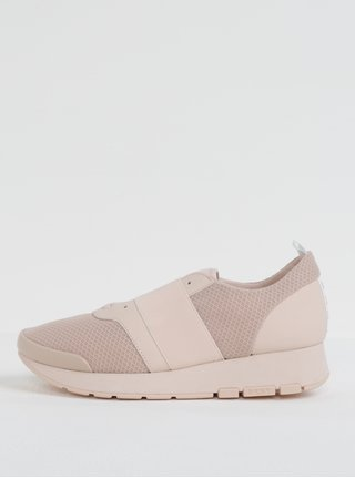 Tenisi slip-on roz deschis DKNY