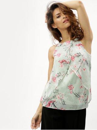 Bluza verde deschis cu model floral M&Co Oriental