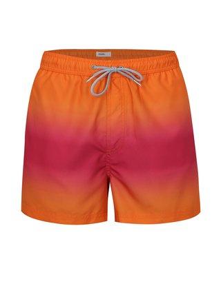 Růžovo-oranžové plavky Burton Menswear London