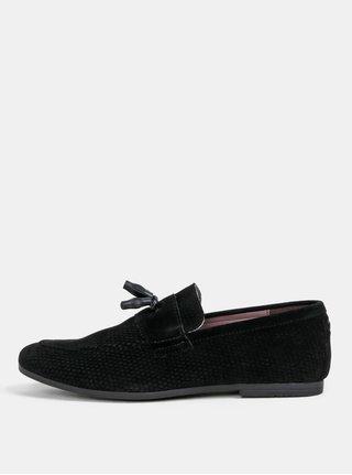 Čierne pánske mokasíny Burton Menswear London